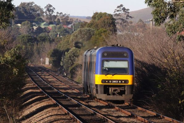 Endeavour rolling off the Menangle Bridge on a northbound service