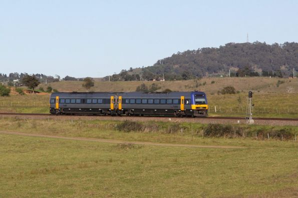 Endeavour rolling through the hills outside Menangle