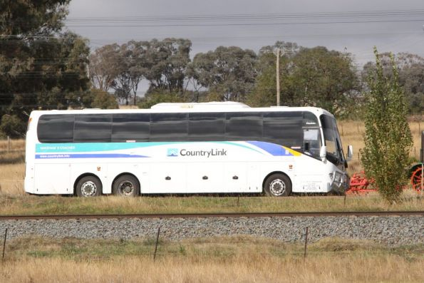 CountryLink road coach outside Cootamundra