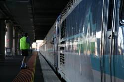 Signal turns green for the XPT at Southern Cross