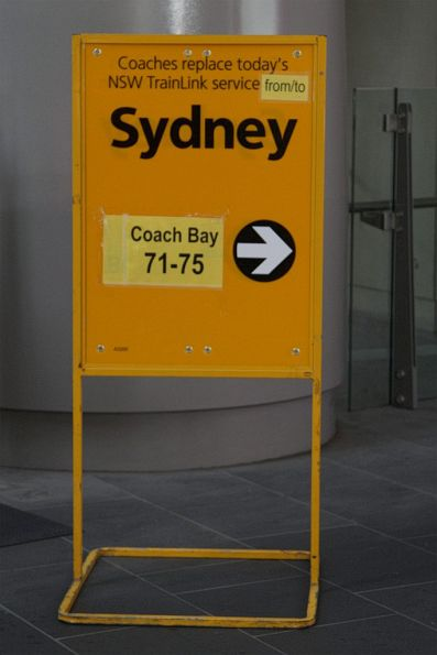 Notice that 'NSW TrainLink' services from Melbourne to Sydney aren't running