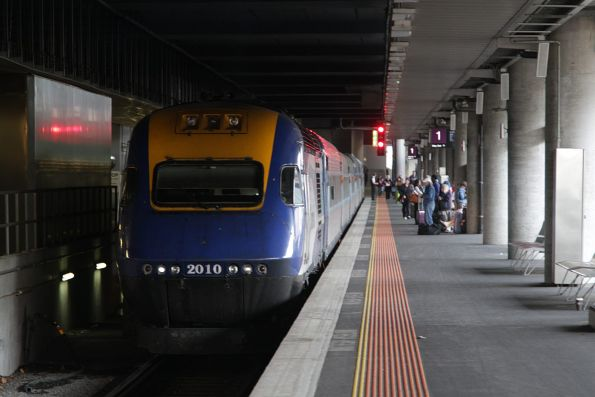 XPT power car XP2010 before departure from Southern Cross Station