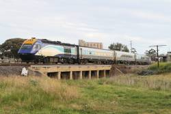 Southbound XPT with XP2001 trailing passes through Albion