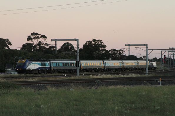 Northbound XPT passes through Sunshine
