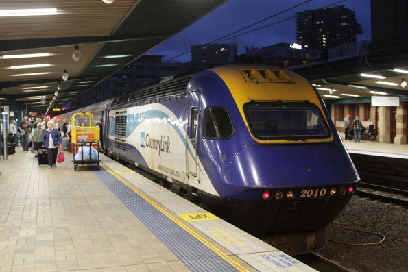 XPT led by XP2010 on arrival at Sydney Terminal