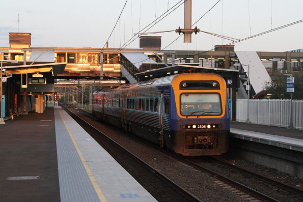 Xplorer 2505 leads the down Canberra service express through Macarthur