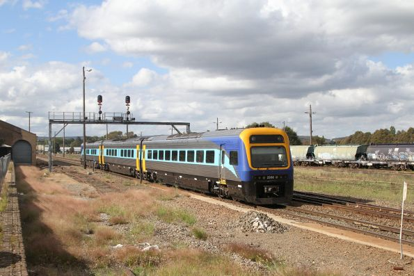 Xplorer 2506 leads the down Canberra service into Goulburn