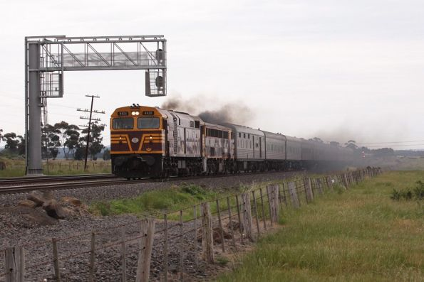 Passing the massive signal gantry outside Craigieburn