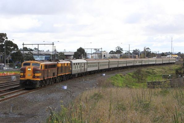 4490 leads 4306 through Sunshine bound for Melbourne
