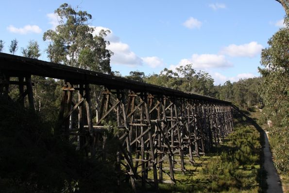 Overview of the Stony Creek trestle bridge