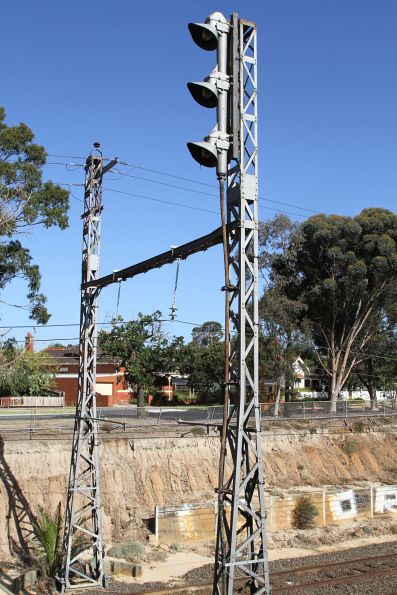 Melbourne stanchions and overhead line electrification