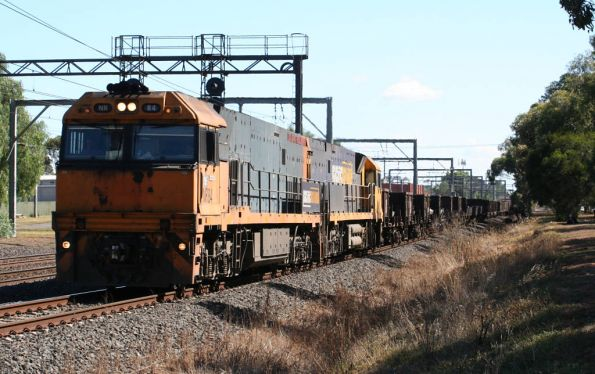 NR84 and NR8 on the up steel train at Werribee