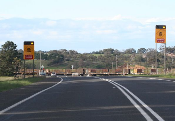 Foiled again by the level crossing on the Hamilton Highway