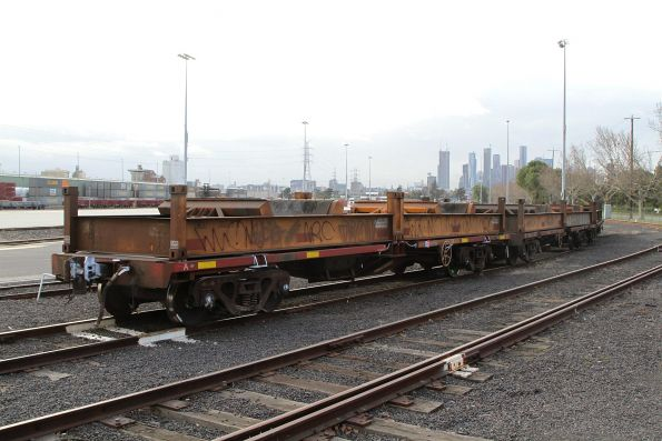 Standard gauge coil steel wagons stabled at North Dynon
