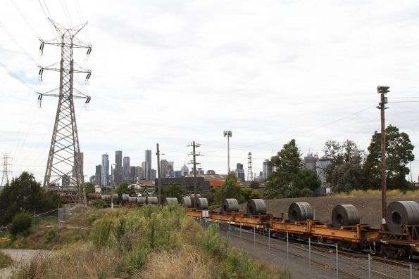 Coil steel loading on SM2 is shunted out of the city end of North Dynon