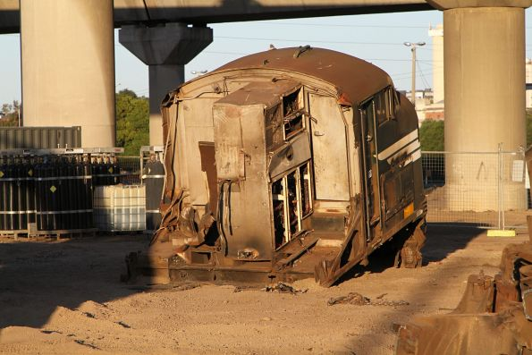 A class cab at South Dynon awaiting removal to the scrap yard