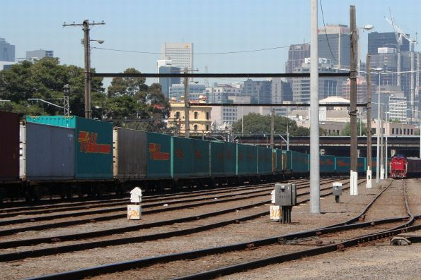 Maryvale train stabled in the Melbourne Yard arrivals roads