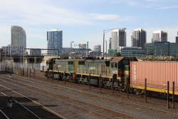 X43 behind X37 at Melbourne Yard