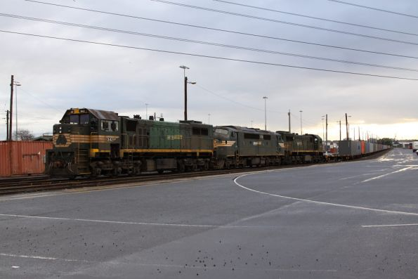 X42, A71 and X49 stabled for the weekend at North Dynon
