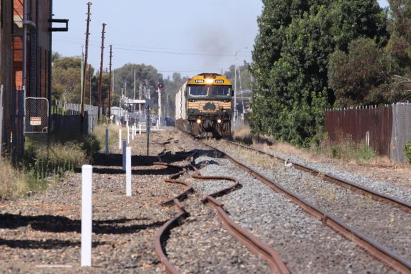 Departing Shepparton, the Dookie line tracks ripped up