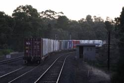 Tail end of the up Tocumwal freight southbound at Tallarook