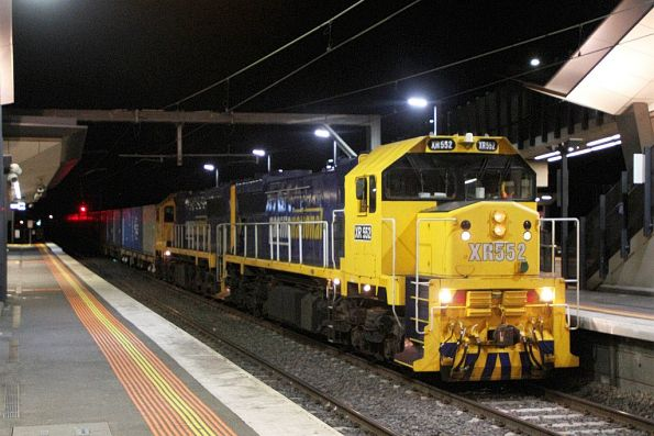 Wednesday, 25 November - XR552 leads XR553 on the down Tocumwal freight through Sunshine
