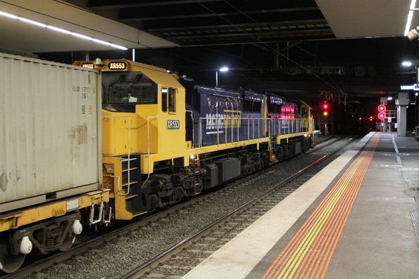 XR552 leads XR553 on the down Tocumwal freight through Sunshine