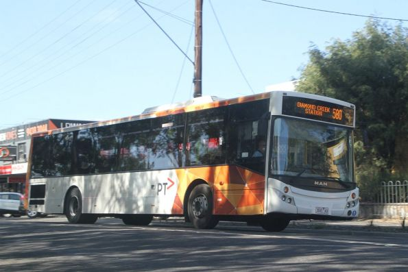 Panorama Coaches bus 3041AO on  route 580 in Diamond Creek