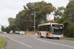 Panorama Coaches bus 3037AO on route 580 along Ryans Road in Eltham North