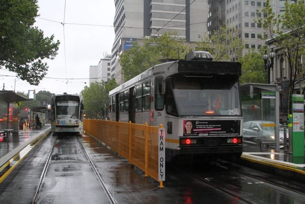 A1.254 parked pantograph down without power at William and La Trobe Street
