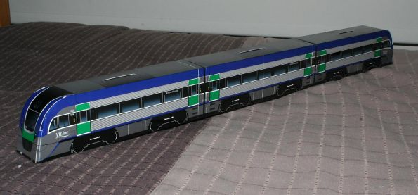 Cardboard Vlocity with a centre car added
