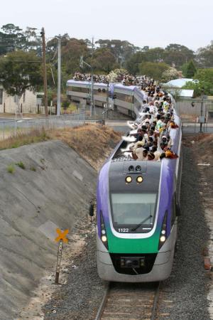 [FAKE] V/Line patronage through the roof - it worked well until it got to the Geelong tunnel...
