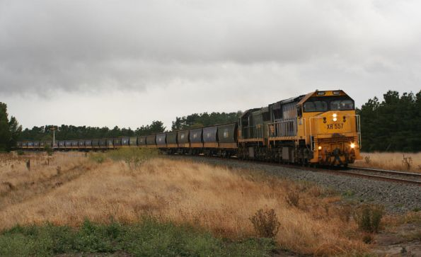 XR557 and XR554 pass the up home signal at Meredith