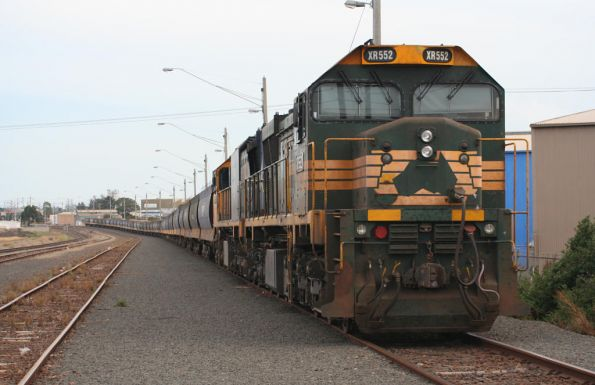 XR552 and XR558 stabled at North Geelong C