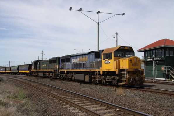 XR557 and XR552 awaiting departure from North Geelong C