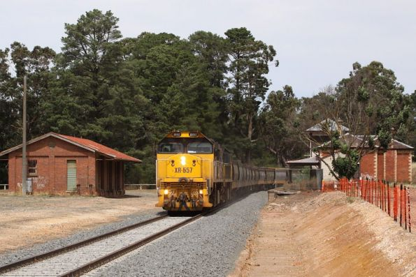 Station building and goods shed still in place at Creswick