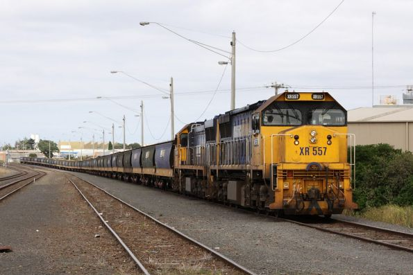 XR557 and XR551 awaiting departure from North Geelong C