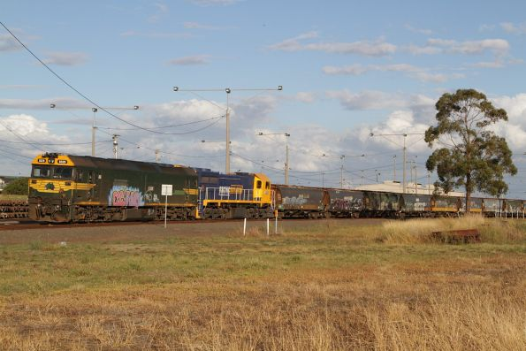 G529 and XR553 stabled at North Geelong Yard
