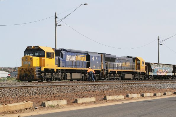 Train crew arrive to start up XR555 and XR550 at North Geelong C