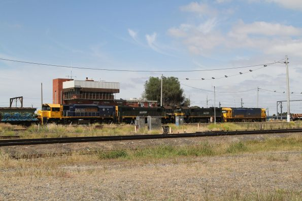 G536 leads X43, X44 and XR555 through Tottenham Yard bound for repairs at North Geelong Yard