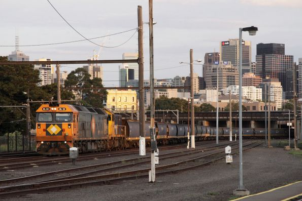 X43 taken off, BL32 and H1 attached to the train awaiting departure from Melbourne Yard