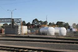 Fuel tanks at the locomotive provisioning centre