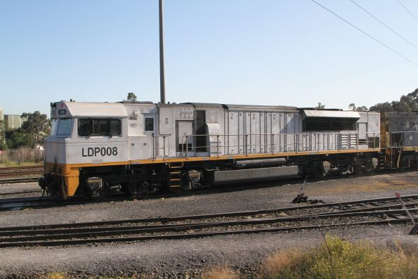 Plain white liveried LDP008 outside the provisioning centre