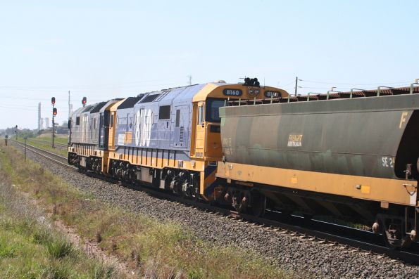 8171 and 8160 on a Melbourne bound SG grain at North Shore