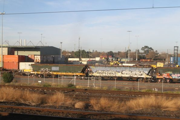 Standard gauge grain wagons stabled in the Agents Sidings at North Dynon