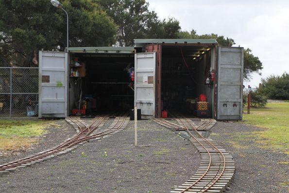 Six road depot housed in two shipping containers