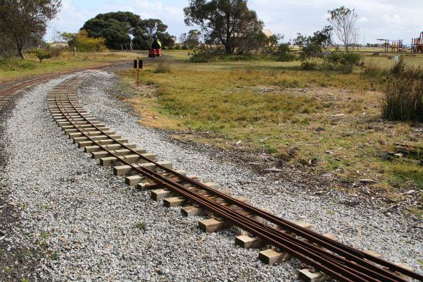 5 inch gauge rail disappears from the dual gauge lead to the depot
