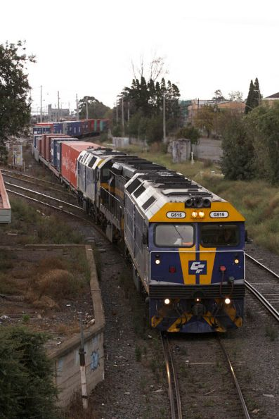 G515, C501 and HL203 on AM2 head onto the dual gauge at West Footscray