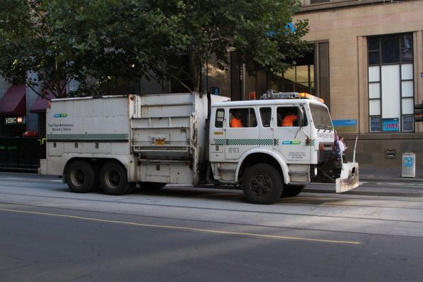 Recovery truck R10 ready to rescue the trams stranded without power on Collins Street