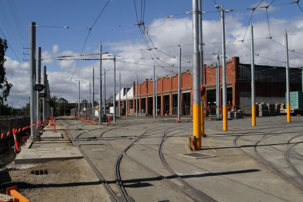 Track lead into the west end of Preston Workshops